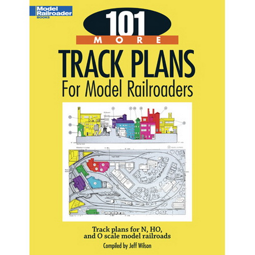 Kalmbach 12443 101 More Track Plans for Model Railroaders Featuring plans from Model Railroader magazine from three decades, each of the 101 track plans has a newly written, informational description of the design. The track plans range in size from simple 4 x 8 foot and smaller layouts to room- and garage-sized showpieces, with the majority focusing on mid-size layouts.Condition: Factory NewOperational Status: FunctionalThis item is brand new from the factory.Original Box: YesManufacturer: KalmbachModel Number: 12443MSRP: $17.95Category 1: Books and MediaCategory 2: RR HistoryAvailability: Ships in 3 to 5 Business Days.The Trainz SKU for this item is P11573902. Track: 11573902 - FS - 001 - TrainzAuctionGroup00UNK - TDIDUNK