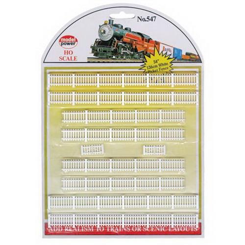 Model Power 547 HO Scale White Fences