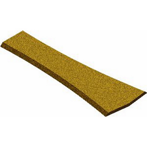 Midwest Products 3024 Cork Switch Pad for #4 or #6 Wye Turnout Install roadbed under turnouts in seconds with these precut easy-to-use cork sections. Simply position and nail in place. One-piece design eliminates difficult alignment of diverging route and cutting. Beveled edges, height and color match other cork roadbed and sheets. Can be used with most US standard turnouts. (3/16 x 3-1/8 x 8-23/32) Midwest Products' cork roadbed makes an excellent sound insulator. Glue it down on your layout surface before attaching your track to it. Use this cork roadbed under your N scale track. 5 pieces per package, 15 feet long. Midwest's high quality cork roadbed is formulated from a blend of natural cork fibers and rubber, with beveled edges to resemble the ballast used on real railroads. Its uniform dimensions and great flexibility are perfect for the tightest turns and offer excellent sound apsorption. And for the special needs of the track plan: switches, sidings, yards, loading areas, etc., Midwest offers Cork Sheet Stock and Turnout Pads. Cork Sheets and Turnout Pads are constructed from the same high quality fibers as our traditional roadbed, and offer greater versatility when choosing your track plan. 3/16 x 3-1/8 x 8-23-32 (5mm x 79mm x 221mm) - 1 per package. Features: •Precut and easy to use. •Beveled edges for a realistic appearance. •Excellent sound absorption. •Fits under all brands of track.Condition: Factory NewOperational Status: FunctionalThis item is brand new from the factory.Original Box: YesManufacturer: Midwest ProductsModel Number: 3024MSRP: $5.54Category 1: Maintenance & SuppliesCategory 2: ToolsAvailability: Ships within 3 Business Days!The Trainz SKU for this item is P11504342. Track: 11504342 - 1017-B (Suite 2740-200)  - 001 - TrainzAuctionGroup00UNK - TDIDUNK