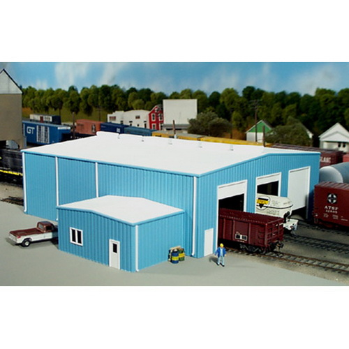 Pikestuff 541-0015 HO KIT The Shops This is Rix 5410015 HO Scale Shop w/Add-On Office Kit. This kit is designed with cut lines on the back side of the walls so that door and window locations are optional. Kit includes doors, windows, roof vents and down spouts. Dimensions: 70 X 80 Scale Feet / 9-11/16 X 11-1/16 Inches.Condition: Factory New (C-9All original; unused; factory rubs and evidence of handling, shipping and factory test run.Standards for all toy train related accessory items apply to the visual appearance of the item and do not consider the operating functionality of the equipment.Condition and Grading Standards are subjective, at best, and are intended to act as a guide. )Operational Status: FunctionalThis item is brand new from the factory.Original Box: Yes (P-9May have store stamps and price tags. Has inner liners.)Manufacturer: PikestuffModel Number: 541-0015MSRP: $29.95Scale/Era: HO ModernModel Type: BuildingsAvailability: Ships in 2 Business Days!The Trainz SKU for this item is P11557953. Track: 11557953 - 4029-D (Suite 2730-100)  - 001 - TrainzAuctionGroup00UNK - TDIDUNK