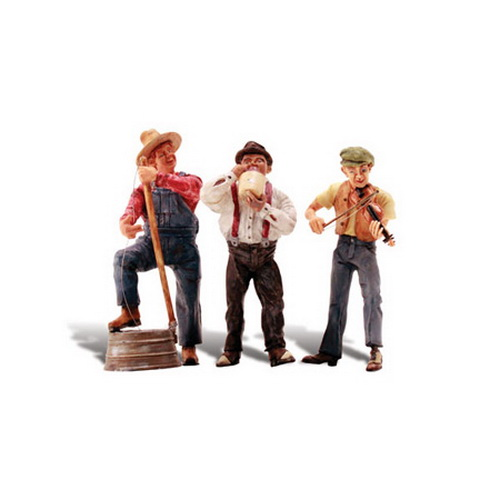 Woodland Scenics A2570 G Scale Juniors Jug Band Figure Set Junior and friends entertain the crowd with homemade and traditional instruments and some good ol' fashioned foot-stomping tunes.Condition: Factory New (C-9All original; unused; factory rubs and evidence of handling, shipping and factory test run.Standards for all toy train related accessory items apply to the visual appearance of the item and do not consider the operating functionality of the equipment.Condition and Grading Standards are subjective, at best, and are intended to act as a guide. )Operational Status: FunctionalThis item is brand new from the factory.Original Box: Yes (P-9May have store stamps and price tags. Has inner liners.)Manufacturer: Woodland ScenicsModel Number: A2570MSRP: $29.99Scale/Era: G ScaleModel Type: FiguresAvailability: Ships in 2 Business Days!The Trainz SKU for this item is P11564576. Track: 11564576 - S69 (Shelf)  - 001 - TrainzAuctionGroup00UNK - TDIDUNK