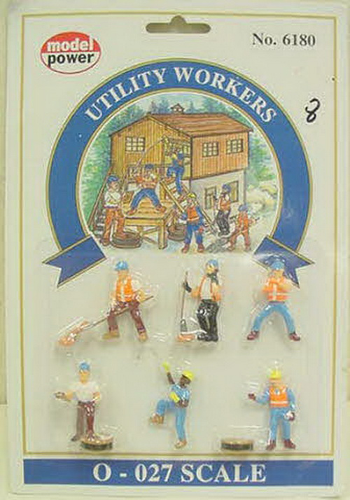 Model Power 6180 O Scale Utility Workers Figure Set (6)