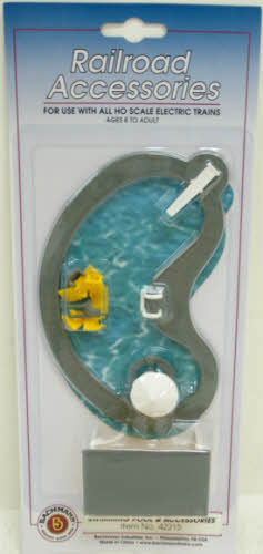 Bachmann 42215 HO Swimming Pool & Park Accessories This is a Bachmann 42215 HO Swimming Pool & Park Accessories. Included are pool tables and chairs, lounge chairs, table with umbrella, and covered lockers. Add realism to to your HO scale layout with this swimming pool.Condition: Factory New (C-9All original; unused; factory rubs and evidence of handling, shipping and factory test run.Standards for all toy train related accessory items apply to the visual appearance of the item and do not consider the operating functionality of the equipment.Condition and Grading Standards are subjective, at best, and are intended to act as a guide. )Operational Status: FunctionalThis item is brand new from the factory.Original Box: Yes (P-9May have store stamps and price tags. Has inner liners.)Manufacturer: BachmannModel Number: 42215MSRP: $11.50Scale/Era: HO ModernModel Type: AccessoriesAvailability: Ships in 3 to 5 Business Days.The Trainz SKU for this item is P11383529. Track: 11383529 - FS - 001 - TrainzAuctionGroup00UNK - TDIDUNK