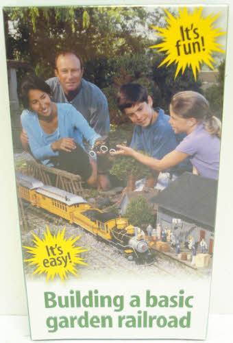 Kalmbach 10001 Building a Basic Garden Railroad (VHS) Everything you need to know about building your first garden railroad! You'll learn the basics of choosing and preparing the location, laying the track, powering your trains, adding buildings, people, and details, landscaping your railroad, and much more! This VHS is 19 minutes long.Condition: Factory NewOperational Status: FunctionalThis item is brand new from the factory.Original Box: YesManufacturer: KalmbachModel Number: 10001Years Manufactured: 2000 - ????MSRP: $12.95Category 1: Books and MediaCategory 2: Videos & DVDsAvailability: Ships in 3 to 5 Business Days.The Trainz SKU for this item is P11389886. Track: 11389886 - FS - 001 - TrainzAuctionGroup00UNK - TDIDUNK