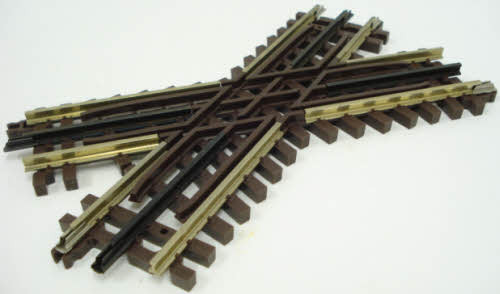 Atlas 6081 O Gauge 45 Degree Crossover Track Here is an Atlas O Gauge 6081 Nickel Silver 45 Degree Crossover Track. This section is used to create figure-8's and other interesting track configurations. It features a blackened center rail, scale-sized, brown plastic ties with wood grain, tie plates with spikes, and rail joiners with bolt detail of real track. Snap-locks ensure positive track connections and electrical conductivity.Condition: Factory New (C-9All original; unused; factory rubs and evidence of handling, shipping and factory test run.Standards for all toy train related accessory items apply to the visual appearance of the item and do not consider the operating functionality of the equipment.Condition and Grading Standards are subjective, at best, and are intended to act as a guide. )Operational Status: FunctionalThis item is brand new from the factory.Original Box: Yes (P-9May have store stamps and price tags. Has inner liners.)Manufacturer: AtlasModel Number: 6081MSRP: $25.50Scale/Era: O ModernModel Type: Track/Switches/Etc.Availability: Ships within 3 Business Days!The Trainz SKU for this item is P11381816. Track: 11381816 - 1013-A (Suite 2740-200)  - 001 - TrainzAuctionGroup00UNK - TDIDUNK