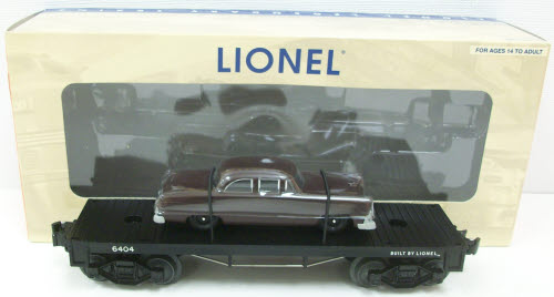 Lionel Trains Lionel 6-39479 PWC #6404 Flatcar with Brown Auto at Sears.com