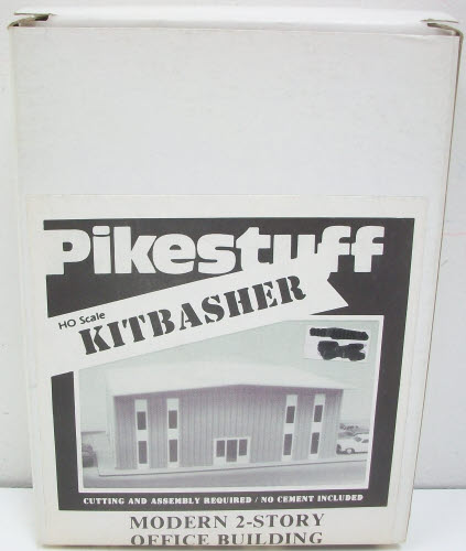 Pikestuff 541-5002 HO Kitbasher Mod 2-Story Office Bld Kit This kit features easy to assemble pieces and detailed instructions.Condition: Factory New (C-9All original; unused; factory rubs and evidence of handling, shipping and factory test run.Standards for all toy train related accessory items apply to the visual appearance of the item and do not consider the operating functionality of the equipment.Condition and Grading Standards are subjective, at best, and are intended to act as a guide. )Operational Status: FunctionalThis item is brand new from the factory.Original Box: Yes (P-9May have store stamps and price tags. Has inner liners.)Manufacturer: PikestuffModel Number: 541-5002MSRP: $15.45Scale/Era: HO ModernModel Type: BuildingsAvailability: Ships within 3 Business Days!The Trainz SKU for this item is P11516573. Track: 11516573 - 4034-C (Suite 2730-100)  - 001 - TrainzAuctionGroup00UNK - TDIDUNK