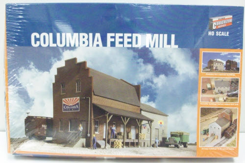 Walthers 933-3090 HO Scale Columbia Feed Mill Kit With this exciting collection of HO structure parts, it's easy to design and build almost any brick industrial structure your layout needs. Each set comes with parts for a specific area of a building. Unlike traditional structure kits or assembled models, YOU choose the location of doors, loading docks, windows, roof style and more. Whether you're just getting started or have been modeling for years, you'll achieve outstanding results with Cornerstone Modulars because each piece is engineered for perfect fit and alignment to make assembly easy. Each set also includes basic assembly instructions with loads of illustrations and modeling tips. Just mix and match walls, doors, windows and details from the various sets - no complicated kitbashing or cutting is needed to create a one-of-a-kind industry for your layout. Parts come molded in realistic brick, window and door, concrete or roof colors so no painting is needed. But as separate parts, it's a snap to custom-paint your project if you want to. Best of all, you can use leftover parts with your next building and securely store them in the reclosable plastic packages until they're needed.Condition: Factory New (C-9All original; unused; factory rubs and evidence of handling, shipping and factory test run.Standards for all toy train related accessory items apply to the visual appearance of the item and do not consider the operating functionality of the equipment.Condition and Grading Standards are subjective, at best, and are intended to act as a guide. )Operational Status: FunctionalThis item is brand new from the factory.Original Box: Yes (P-9May have store stamps and price tags. Has inner liners.)Manufacturer: WalthersModel Number: 933-3090MSRP: $41.98Scale/Era: HO ModernModel Type: BuildingsAvailability: Ships in 3 to 5 Business Days.The Trainz SKU for this item is P11572429. Track: 11572429 - FS - 001 - TrainzAuctionGroup00UNK - TDIDUNK