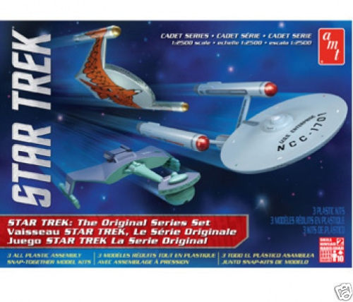 AMT 763 1/2500 Star Trek The Original Series Set (3 Snap Kits)