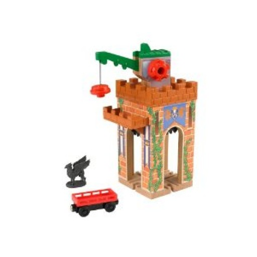Fisher Price Y4482 Thomas & Friends Castle Crane King of the Railway This is a Fisher Price Y4482 Thomas & Friends™ Wooden Railway Castle Crane - King of the Railway. Featured in the King of the Railway movie, this Castle Crane can completely around and the crane arm has two positions. This means it can extend the outward and pick up cargo from the Castle crane ledge or extend down the track to grab up cargo! This set includes Gryffon from the movie which is magnetic as well as one cargo car.Condition: Factory New (C-9All original; unused; factory rubs and evidence of handling, shipping and factory test run.Standards for all toy train related accessory items apply to the visual appearance of the item and do not consider the operating functionality of the equipment.Condition and Grading Standards are subjective, at best, and are intended to act as a guide. )Operational Status: FunctionalThis item is brand new from the factory.Original Box: Yes (P-9May have store stamps and price tags. Has inner liners.)Manufacturer: Fisher PriceModel Number: Y4482MSRP: $48.49Scale/Era: ThomasModel Type: Wooden TrainsAvailability: Ships in 2 Business Days!The Trainz SKU for this item is P11824512. Track: 11824512 - DS (Shelf)  - 001 - TrainzAuctionGroup00UNK - TDIDUNK