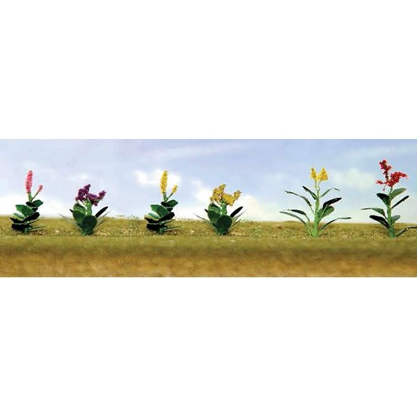 JTT Scenery Products 95563 HO Assorted Flower Plants, Set #4, 5/8  Hig JTT's Flowering Plants Series use the unique twisted wire process and handmade detail that makes JTT trees so genuine. The series features bushes, trees and hedges, as well as petunias, tulips, and remarkably realistic corn stalks up to 2  high. Capturing nature's most vibrant colors, contours and textures in HO and O scale, these flowering plants come alive in red, pink, green, yellow, purple and blended colors.Create natural landscaped borders for your layout, a colorful countryside, brilliant backdrops for homes and buildings. JTT's unique flowering plants deliver a convincing reality that are unique to the marketplace.assembled & ready to  plantCondition: Factory New (C-9All original; unused; factory rubs and evidence of handling, shipping and factory test run.Standards for all toy train related accessory items apply to the visual appearance of the item and do not consider the operating functionality of the equipment.Condition and Grading Standards are subjective, at best, and are intended to act as a guide. )Operational Status: FunctionalThis item is brand new from the factory.Original Box: Yes (P-9May have store stamps and price tags. Has inner liners.)Manufacturer: JTT Scenery ProductsModel Number: 95563MSRP: $9.75Category 1: Scenery & MaterialsCategory 2: Ground CoverAvailability: Ships in 3 to 5 Business Days.The Trainz SKU for this item is P11982530. Track: 11982530 - FS - 001 - TrainzAuctionGroup00UNK - TDIDUNK