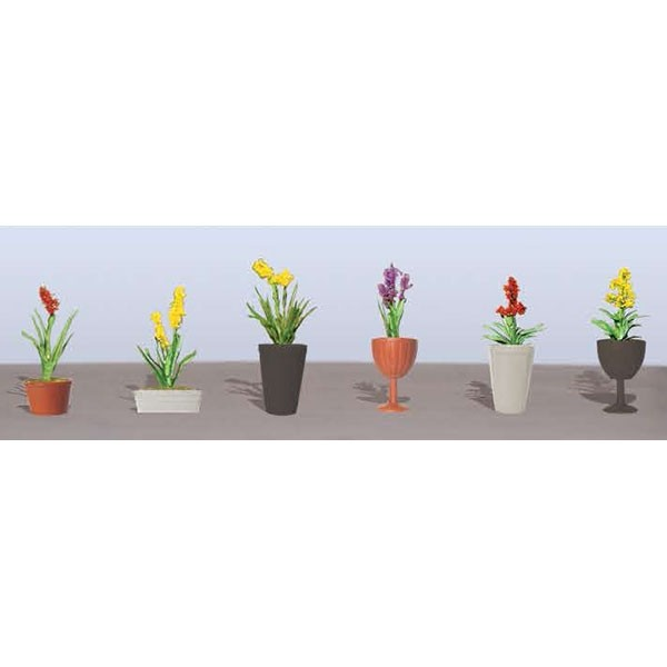 JTT Scenery Products 95567 HO Assorted Potted Flower Plants, Set #2, 7