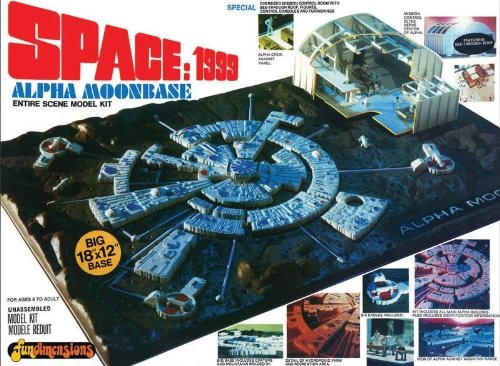 MPC 803 1/3200 Space 1999: Moon Base Alpha Recreate the main stage for all the action on the show Space: 1999 ! Base measures 17-inches x 17-inches square. Includes 5 unique landing pads, a 4-piece vacuform base, in-scale Eagle Transporters, and more!Requires glue and paint, not included. The design and production values of the 1970s TV series Space: 1999 stand in high regard to sci-fi fans around the world. The main stage for all of the action in the show was Moonbase Alpha, and this Space 1999 Alpha Moon Base 1:1800 Model Kit recreates the entire scene!The kit is comprised of 2 elements, a 1:1800 scale model of the entire base and a larger 1:115 scale of the base's control room. This expanded release contains significant changes to make the model more accurate. Five unique landing pads are included along with other pieces needed to accurately portray the layout of the structure.A 4-piece vacuform base supplies the entire sprawl of the moon base surface. In-scale Eagle Transporters are also included. The base measures 17-inches x 17-inches square.Glue and paint are required, not included. Skill level 3Condition: Factory NewOperational Status: FunctionalThis item is brand new from the factory.Original Box: YesManufacturer: MPCModel Number: 803MSRP: $40.00Category 1: Other ToysCategory 2: Model KitsAvailability: Ships in 1 Business Day!The Trainz SKU for this item is P11999618. Track: 11999618 - S01 (Shelf)  - 001 - TrainzAuctionGroup00UNK - TDIDUNK