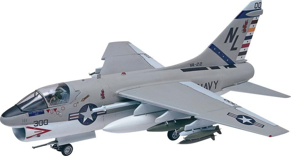 Revell 85-5484 1:48 A-7A Corsair II This is a Revell 85-5484 1:48 Scale A-7A Corsair II. Corsair II aircraft were developed during the bloodiest days of the Vietnam War. Once deployed, they served as close air support aircraft. Sophisticated electronics, including the first ever Heads-Up-Display, allowed the Corsair II to land hits with more precision than had ever before been possible. Coupled with the Corsair's massive 15,000 lb ordnance capacity, this precision meant that Corsairs became planner's strike craft of choice. Kit features an optional open or closed canopy, wing-mounted weaponry, and detailed cockpit and landing gear.Condition: Factory NewOperational Status: FunctionalThis item is brand new from the factory.Original Box: YesManufacturer: RevellModel Number: 85-5484MSRP: $19.95Category 1: Model KitsCategory 2: 1:48 ScaleAvailability: Ships in 3 to 5 Business Days.The Trainz SKU for this item is P11984739. Track: 11984739 - FS - 001 - TrainzAuctionGroup00UNK - TDIDUNK