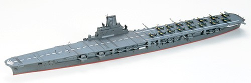 Tamiya 31211 1/700  WWII Japan Taiho Aircraft Carrier Ship Model Kit About the Model:This is an assembly kit of the Taiho, an aircraft carrier which was completed in March 1944, near the end of WWII. Built with a new design philosophy, she was expected to be a mainstay of Japan's Mobile Fleet, but was sunk by submarine attack just 3 months into her service life. Distinctive features of the ship such as the armored flight deck and enclosed bow have been accurately reproduced. The bridge and anti-aircraft armament are also sharply rendered. Modellers can choose to depict the ship's mast in either cruising or battle stations position and the elevators can be assembled in either up or down position as well. Kit includes parts to depict Mitsubishi A6M5 fighters and Nakajima B6N torpedo bombers.Condition: Factory NewOperational Status: FunctionalThis item is brand new from the factory.Original Box: YesManufacturer: TamiyaModel Number: 31211MSRP: $40.00Category 1: Other ToysCategory 2: Model KitsAvailability: Ships in 1 Business Day!The Trainz SKU for this item is P12000283. Track: 12000283 - S01 (Shelf)  - 001 - TrainzAuctionGroup00UNK - TDIDUNK