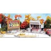 Bar Mills 951 N Swanson's Lunch Counter Kit This is an Bar Mills 951 N Scale Swanson's Lunch Counter Kit - 1-1/2 x 1. Grab a bite to eat along vintage highways with this roadside lunch stand. This Thumbnail Series(TM) kit is complete with interior framing and appliances, fencing, metal details and a colorful billboard.Condition: Factory New (C-9All original; unused; factory rubs and evidence of handling, shipping and factory test run.Standards for all toy train related accessory items apply to the visual appearance of the item and do not consider the operating functionality of the equipment.Condition and Grading Standards are subjective, at best, and are intended to act as a guide. )Operational Status: FunctionalThis item is brand new from the factory.Original Box: Yes (P-9May have store stamps and price tags. Has inner liners.)Manufacturer: Bar MillsModel Number: 951MSRP: $21.95Scale/Era: N ScaleModel Type: AccessoriesAvailability: Ships within 3 Business Days!The Trainz SKU for this item is P11569089. Track: 11569089 - 1005-B (Suite 2740-200)  - 001 - TrainzAuctionGroup00UNK - TDIDUNK