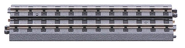 MTH 40-1001 O Gauge 10  Realtrax Hollow Rail Straight Track This is an MTH 40-1001 Realtrax 10 inch Straight Section of Track. This is the newer track that does not have the blackening on the top of the center rail. Realtrax is simply the easiest O Gauge track system ever manufactured. Featuring hollow metal rails strong enough to stand on and a built-in roadbed for a realistic appearance ensures that a RealTrax layout will last for years while sporting a realistic appearance not found in other O Gauge track systems. RealTrax incorporates built-in track bed joiners and long-lasting sprung- metal electrical connectors that make assembling RealTrax literally a snap. Because the roadbed is solid, RealTrax is perfect for temporary carpet based layouts. The built-in roadbed prevents any dirt from staining your carpet and it comes apart so easily that your temporary layout can be disassembled in minutes. While the RealTrax system employs Hollow nickel-silver rails that won't rust or oxidize in an outdoor environment, the plastic roadbed and rail ties are constructed of ABS plastic that can be compromised outdoors. Essentially, ABS plastic is not designed to withstand extreme temperature swings and can distort (in high heat) or crack in extreme cold. In addition, the plastic will tend to fade in color since it has not been treated with UV resistant paint. As a result, we do not recommend that RealTrax be used outdoors. This is Hollow RailCondition: Factory New (C-9All original; unused; factory rubs and evidence of handling, shipping and factory test run.Standards for all toy train related accessory items apply to the visual appearance of the item and do not consider the operating functionality of the equipment.Condition and Grading Standards are subjective, at best, and are intended to act as a guide. )Operational Status: FunctionalThis item is brand new from the factory.Original Box: Yes (P-9May have store stamps and price tags. Has inner liners.)Manufacturer: MTHModel Nu