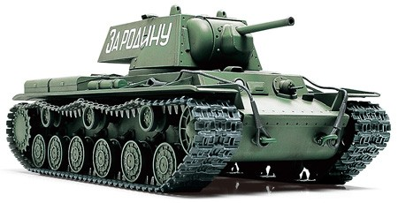 Tamiya 32535 1/48 Russian KV1 Heavy Tank The largest, most heavily armored tank of its time when introduced, the KV-1 heavy tank played a major role in the defense of Russia in WWII. This assembly kit depicts a 1940 model type, never before modeled in 1/35 scale and therefore a 1/48 MM Series original. Model accurately reproduces the KV-1?s 76.2mm main gun and square-shaped welded turret. Use with Russian Infantry and Tank Crew Set to display Soviet forces on the move, or set against arch-rival, the German Tiger I.About the Russian KV-1When first introduced in late 1930's, the KVI was no doubt one of the most powerful tanks in the world, and a complete secret. It was built to be completely bulletproof, and was shot proof against 37 or 50mm Anti-Tank Guns with it's thick 100mm armor. This heavy tank, weighing around 45 tons with crew of five, was armed with 76.2mm main gun and two MGs. The armament was considered heavy for 1940, but by 1943 the main gun lacked punching power against new Panthers and Tigers. Although production of the KV-1 series ended in July 1941, the tank was active throughout the conflict, and the basic ideas were later incorporated in modern tanks of the Soviet Union and other nations.About the modelDetailed 1/48 assembly model kit of the Russian KV-1 Heavy Tank.Overall length 141mm. Includes diecast chassis for added weight and realism.The unique and powerful form of this tank has been accurately replicated.Assembly type tracks comes with straight parts made of single pieces.Includes 3 sets of markings (planned).Recommended for use with Item 32521 1/48 WWII Russian Infantry and Tank Crew Set.Condition: Factory NewOperational Status: FunctionalThis item is brand new from the factory.Original Box: YesManufacturer: TamiyaModel Number: 32535MSRP: $36.00Category 1: Model KitsCategory 2: 1:48 ScaleAvailability: Ships in 3 to 5 Business Days.The Trainz SKU for this item is P12000342. Track: 12000342 - FS - 001 - TrainzAuctionGroup00UNK - TDI