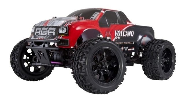 Redcat Racing Volcano EPX 1:10 Scale RTR Electric Brushed Monster Truc This is a Redcat Racing Volcano EPX PRO 1/10 Scale Electric Monster Truck. The Volcano EPX is equipped with a 27T brushed 540 electric motor with heat sink, and forward/reverse ESC. Ready to run out of the box. Lightweight plastic chassis, eight aluminum capped oil filled coil over shocks, and independent suspension offer rock solid performance as the soft compound monster truck tires leave disaster in their wave. Fear not! A 2.4GHz radio system and waterproof electronics ensure control, for those who dare to unleash the power of the Volcano!Condition: Factory NewOperational Status: FunctionalThis item is brand new from the factory.Original Box: YesManufacturer: Redcat RacingModel Number: Volcano EPXMSRP: $199.99Category 1: Other ToysCategory 2: Radio Control ToysAvailability: Ships in 1 Business Day!The Trainz SKU for this item is P12190714. Track: 12190714 - 4029-A (Suite 2730-100)  - 001 - TrainzAuctionGroup00UNK - TDIDUNK