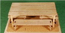 GCLaser 350116 1:35 O Scale Table and Bench Set Laser Cut Plywood Kit