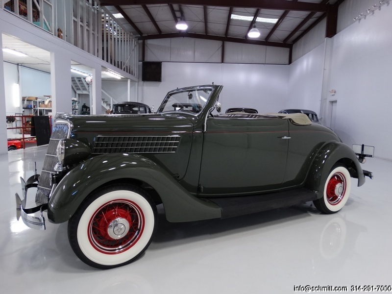 Busch 006552BK 1935 Ford Convertible This is a Busch 006552BK 1935 Ford Convertible. Finished in beautiful and unique Palm Beach Gray with a supple leather-trimmed seat, this 1935 Ford Convertible Cabriolet has been restored to an incredibly high level, and is among a only handful that have survived in factory-correct form. The paint and chrome work are truly outstanding, and every detail draws you in further, making you realize just how much time, effort, and expense went into making this car what it is today. Not to be confused with the less refined roadster, this factory Convertible Cabriolet has roll up windows and a cozy, snug fitting top to keep outside weather where it belongs on days when top-down cruising is less than ideal. With the 221-cubic-inch V-8 providing a smooth and surprisingly brisk 85-horsepower, one can see why this car was a favorite among the hot rod crowd, and making that fact that this car survives in an unmodified form all the more remarkable. Do not miss this opportunity to acquire one of the best restored, most desirable 1935 Ford Convertible Cabriolets available anywhere. It truly belongs with a collector, or enthusiast who can appreciate the quality and significance of this remarkable automobile. We also believe this 1935 Ford Convertible Cabriolets will prove to be an incredibly attractive investment over time. According to Knight Frank's Wealth Report, collectible cars were the top-performing collectible asset with prices surging 23-percent in the 12-months ending in the third quarter of 2012, and posting gains of 395-percent over 10-years. Please contact one of our expert sales consultants for more information. They will be happy to give you a complete walk-around, supply you with a more detailed description, and answer any questions you may have. Bid with confidence – for over 40 years Daniel Schmitt & Co. has built an unrivaled reputation by uniting the world's finest motorcars with those who
