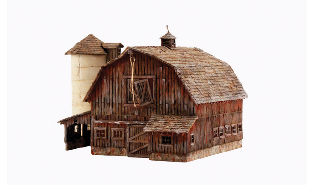Woodland Scenics 4932 N Built Up Old Weathered Barn | eBay