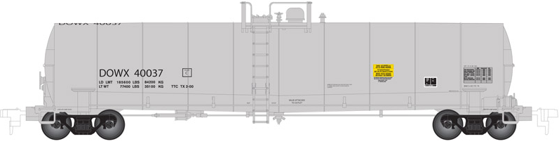 Atlas 50002073 N Dow Chemical ACF 23,500 Gallon Tank Car #40037 This is an Atlas 50002073 N Scale Dow Chemical ACF 23,500 Gallon Tank Car #40037. This features Separately molded brake line plumbing, Ultra-thin handrails, Tank fittings and safety placards, 100-ton roller-bearing trucks, Brake wheel chain detail, Accurate painting and lettering, and Factory-installed AccuMate® magnetic knuckle couplers.Condition: Factory New (C-9All original; unused; factory rubs and evidence of handling, shipping and factory test run.Standards for all toy train related accessory items apply to the visual appearance of the item and do not consider the operating functionality of the equipment.Condition and Grading Standards are subjective, at best, and are intended to act as a guide. )Operational Status: FunctionalThis item is brand new from the factory.Original Box: Yes (P-9May have store stamps and price tags. Has inner liners.)Manufacturer: AtlasModel Number: 50002073Road Name: Dow ChemicalMSRP: $27.95Scale/Era: N ScaleModel Type: Freight CarsAvailability: Ships in 3 to 5 Business Days.The Trainz SKU for this item is P12098750. Track: 12098750 - FS - 001 - TrainzAuctionGroup00UNK - TDIDUNK
