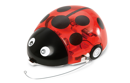 Tamiya 70195 WALL HUGGING LADYBUG This is a Tamiya 70195 Wall-Hugging Ladybug. Features: This simple motorized kit recreates a ladybug as it crawls along a wall. The body is made from clear red ABS material to enable viewing of the internal mechanisms and may also be painted as you like. Stickers are included to depict the eyes and black dots on back of the body. This kit may be easily assembled without the need for any cement and the various motors and switches also come pre-wired. For smooth movement, the robot is equipped with a worm gearbox, rubber tires, and a ball caster. Movement Mechanism: 1) When the sensor rod loses contact with the wall, the right motor operates to cause the robot to turn left, back towards the wall. 2) When the sensor rod touches the wall, the right motor is stopped while the left motor operates to cause the robot to turn right, away from the wall. This repeated pattern results in a zig zag forward movement and you can also use other obstacles instead of a wall. Specifications: Length: 140mm. Chassis: ABS material. Body: Clear Red ABS material. 2 motors included (pre-wired). Running Time: About 6hrs on one R6/AA/UM3 alkaline battery (sold separately)Condition: Factory NewOperational Status: FunctionalThis item is brand new from the factory.Original Box: YesManufacturer: TamiyaModel Number: 70195MSRP: $34.00Category 1: Other ToysCategory 2: Radio Control ToysAvailability: Ships in 1 Business Day!The Trainz SKU for this item is P12147534. Track: 12147534 - No Location Assigned - 001 - TrainzAuctionGroup00UNK - TDIDUNK