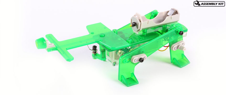 Tamiya 71103 MECHANICAL BEETLE This is a Tamiya 71103 Mechanical Beetle - Obstacle Evading Type. Features: Clear type switchClear switch with green transparent parts adds a cool, futuristic look.Walking the BeetleRun on flat, smooth surfaces. Avoid running over slopes or on bumpy roads. Enclose the beetle in 4 walls to have it run around in the same space.Walks while swinging its horn to avoid obstaclesThis amazing beetle-robot walks with its four legs while swinging its horn. When it bumps into an obstacle, it turns around automatically and will continue walking. Horn, legs and body on which the gearbox is mounted employ transparent-colored parts, giving the beetle a funky look. Reverse switch is also transparent, giving you a peek at the beetle's internal mechanisms. Assembly is very simple with use of screws and snap-lock parts.All you need includedAssembly is very simple with use of screws and snap-lock parts. Cable ends are rubber capped with cut areas pre-marked for easy wiring.Walks while swinging its hornA link rod attached to the front right leg allows the horn to move right and left and when it bumps into an obstacle, the beetle automatically turns to avoid it.Low speed, high speed, choice between two gearboxesYou can choose between 2 different running speeds. A reverse switch also allows backward movement.Condition: Factory NewOperational Status: FunctionalThis item is brand new from the factory.Original Box: YesManufacturer: TamiyaModel Number: 71103MSRP: $18.50Category 1: Other ToysCategory 2: Radio Control ToysAvailability: Ships in 3 to 5 Business Days.The Trainz SKU for this item is P12147542. Track: 12147542 - FS - 001 - TrainzAuctionGroup00UNK - TDIDUNK
