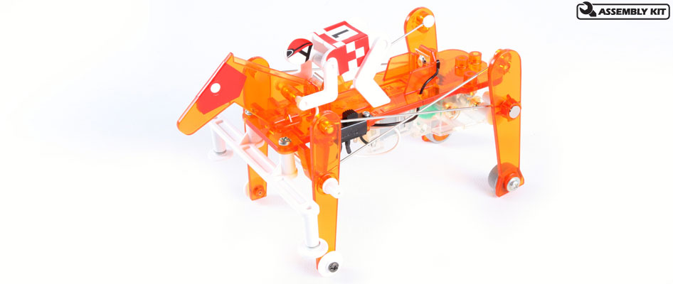Tamiya 71112 MECHANICAL RACEHORSE This is a Tamiya 71112 Mechanical Racehorse - Galloping Type. Features: They're off and racing!The latest and fastest release in the Robocraft Series, this galloping racehorse with jockey is loads of fun to build, loads of fun to play with, and educational too! Employing left and right legs moving at the same time, the legs and wheel base have been designed for stability and faster running. Overall this galloping racehorse can run 1.3 times faster than the mechanical rabbit.Low speed, high speedPower from the rotating motor is transferred to the legs via link rods to make the horse gallop. Two link rod holes on the back legs allow you to choose between two running styles.Easy assemblyAssembly is very simple with use of screws and snap-lock parts. Cable ends are rubber capped with cut areas pre-marked for easy wiring.3 types of stickersThe mechanical horse is comprised of mainly transparent orange plastic allowing internal mechanics to be easily seen. Kit includes 3 types of stickers for representation of horse's mask and number, and jockey's clothes to make each model easily distinguishable while racing with friends.How to playRun on flat, smooth surfaces. Avoid running over slopes, on bumpy roads or on thick carpet.Condition: Factory NewOperational Status: FunctionalThis item is brand new from the factory.Original Box: YesManufacturer: TamiyaModel Number: 71112MSRP: $19.50Category 1: Other ToysCategory 2: Radio Control ToysAvailability: Ships in 3 to 5 Business Days.The Trainz SKU for this item is P12147550. Track: 12147550 - FS - 001 - TrainzAuctionGroup00UNK - TDIDUNK