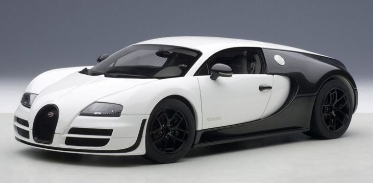 autoart 70933 1 18 bugatti veyron 16 4 super sport pur blanc edition matt white ebay. Black Bedroom Furniture Sets. Home Design Ideas