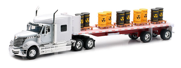 Cheap Offer New-Ray 10193A 1:32 International Lonestar with Flatbed Carrying Toxic Before Too Late