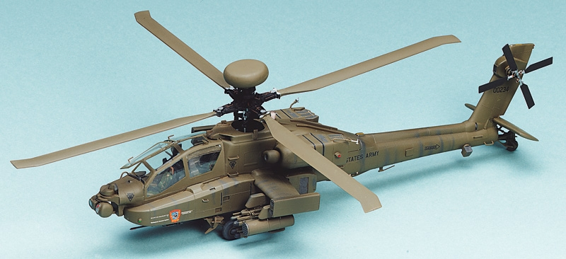 """Italeri 0863 1/48 AH-64D APACHE LONGBO This is Italeri 0863 1/48 AH-64D APACHE LONGBOW. Model kit. The Apache is certainly the most powerful and sophisticated combat helicopter thanks to its robust fuselage, which was designed without saving costs, as well as remarkable electronic equipment and massive weapons systems. Presently modifications are carried out to adapt the """"D"""" model equipped with """"Longbow"""" radar. This allows more efficiency in using anti-tank missiles and greater capacity to direct its fire-power.Its key features are:Plastic pieces attached to sprues and molded in greenClear pieces for windows of cockpitDetailed 2-seat cockpit with an instrument panelRaised panel lines on body of helicopter for authenticityHeavy armament includedDetailed landing gear and wheel wellsSturdy plastic parts are highly detailed and authenticDutch, U.S., and British decals includedMarking options:One decal sheet with markings for three aircraft:1: 00234, United States Army, Danger, Longbow Apache2: ZJ168, Army, Danger, Royal Army Insignia3: KONINKLIJKE LUCHTMACHT, Danger, Dutch Army InsigniaAirframe and Detail Colors:Olive Drab (FS34087), Flat Black (FS37038), Steel, Field Green (FS34097), Gun Metal, Insignia White (FS17875), Light Blue Gloss, Semigloss Red, Gloss Black (FS17038), Green, Chrome Silver (FS17178), Chromate, MagnesiumBox length (mm) 345Box width (mm) 242Box height (mm) 48Model length (cm) 31.2Condition: Factory NewOperational Status: FunctionalThis item is brand new from the factory.Original Box: YesManufacturer: ItaleriModel Number: 0863MSRP: $44.00Category 1: 1:48 ScaleCategory 2: AircraftAvailability: Ships in 2 Business Days!The Trainz SKU for this item is P11969303. Track: 11969303 - No Location Assigned - 001 - TrainzAuctionGroup00UNK - TDIDUNK"""