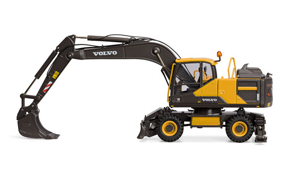Motorart 300067 Volvo EW180E Wheeled Excavator This is a Motorart 300067 1:50 Scale Volvo EW180E Wheeled Excavator. The first Top Secret model of the year has been revealed. Volvo EW 180E is highly detailed wheel excavator with realistic and accurately replicated features. Features of the model: Adjustable stabilizing legs with protection caps Rotating body and rolling rubber wheels Detailed interior that features operator chair, controls and steering wheel Detailed hose, cable and hydraulic line placement Openable engine bonnet with painted details Replicated excavator bucket Replicated railings and grab rails Accurate boom design Rear view mirrors Replicated exhaust and intake port.Condition: Factory NewOperational Status: FunctionalOriginal Box: YesManufacturer: MotorartModel Number: 300067MSRP: $152.99Category 1: 1:64 ScaleCategory 2: ConstructionAvailability: Ships in 3 to 5 Business Days.The Trainz SKU for this item is P12150739. Track: 12150739 - FS - 001 - TrainzAuctionGroup00UNK - TDIDUNK