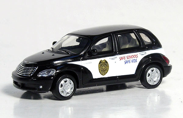 Ricko 38961 1:87 Chrysler PT Cruiser School Resource Officer Car Chrysler PT Cruiser School Resource Officer Car - plasticCondition: Factory NewOperational Status: FunctionalThis item is brand new from the factory.Original Box: YesManufacturer: RickoModel Number: 38961MSRP: $12.42Category 1: 1:87 ScaleCategory 2: StreetAvailability: Ships in 3 to 5 Business Days.The Trainz SKU for this item is P12037265. Track: 12037265 - FS - 001 - TrainzAuctionGroup00UNK - TDIDUNK