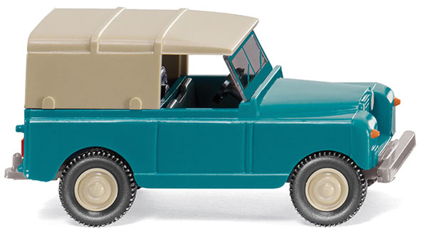 This is a Wiking 781-10002 HO Scale 1958 Land Rover w/Roof - Assembled Pale TurquoiseCondition: Factory NewOperational Status: FunctionalThis item is brand new from the factory.Original Box: YesManufacturer: WikingModel Number: 10002MSRP: $13.99Category 1: 1:87 ScaleCategory 2: StreetAvailability: Ships in 3 to 5 Business Days.The Trainz SKU for this item is P12055968. Track: 12055968 - FS - 001 - TrainzAuctionGroup00UNK - TDIDUNK