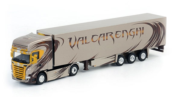 WSI 08-1109 1:87 Valcarenghi - Scania R Topline with 3-Axle Thermo Kin Valcarenghi - Scania R Topline with 3-Axle Thermo King Reefer TrailerCondition: Factory NewOperational Status: FunctionalThis item is brand new from the factory.Original Box: YesManufacturer: WSIModel Number: 08-1109MSRP: $38.56Category 1: 1:87 ScaleCategory 2: TruckingAvailability: Ships in 3 to 5 Business Days.The Trainz SKU for this item is P12039843. Track: 12039843 - FS - 001 - TrainzAuctionGroup00UNK - TDIDUNK