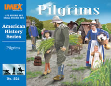 Imex 521 1:72 Pilgrims Figure Set This is a Imex 521 1:72 Pilgrims Figure Set. It Features: Accurately reproduced figures fully assembled in various action poses. Injection molded with finely detailed facial expressions.Meticulous clothing, weapon and equipment details. Unpainted with illustrated painting guide on package.Condition: Factory NewOperational Status: FunctionalThis item is brand new from the factory.Original Box: YesManufacturer: ImexModel Number: 521MSRP: $10.00Category 1: AccessoriesCategory 2: FiguresAvailability: Ships in 3 to 5 Business Days.The Trainz SKU for this item is P12020779. Track: 12020779 - FS - 001 - TrainzAuctionGroup00UNK - TDIDUNK