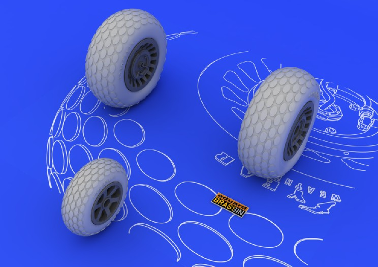 Eduard 648057 1:48 P-61 Wheels for Great Wall Hobby Aircraft (Photo-Et This is an Eduard 648057 1:48 P-61 Wheels for Great Wall Hobby Aircraft (Photo-Etched & Resin). This is recommended for Great Wall Hobby Kit. It contains 9 resin parts and photoetched fret. Realistic tire design on main wheels, also as on the front wheel is supported by the weight effect on tires. Wheel discs are molded separately. These, with the painting mask helps to non-problematic painting. Products: Brassin, Type: Aircraft, Tags: Wheels, and Weight: 0.049 kg.Condition: Factory NewOperational Status: FunctionalOriginal Box: YesManufacturer: EduardModel Number: 648057MSRP: $9.95Category 1: AccessoriesCategory 2: OtherAvailability: Ships in 3 to 5 Business Days.The Trainz SKU for this item is P12019718. Track: 12019718 - FS - 001 - TrainzAuctionGroup00UNK - TDIDUNK