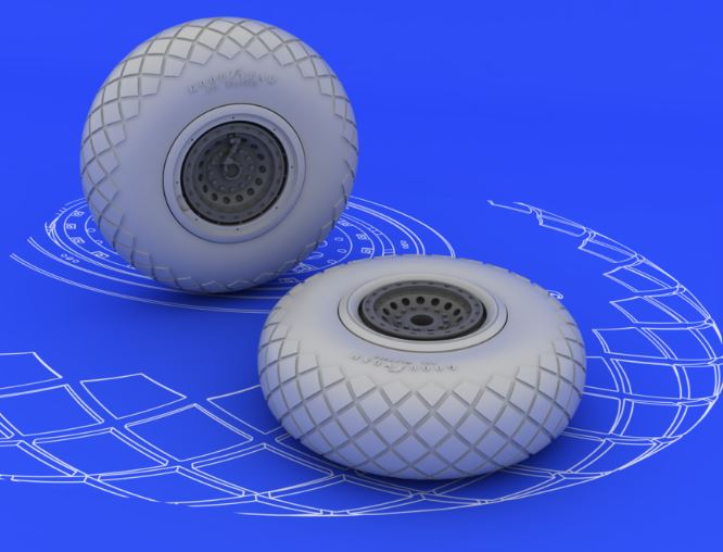 Eduard 648078 1:48 B-17 Wheels for Monogram & Revell Aircraft (Resin) This is an Eduard 648078 1:48 B-17 Wheels for Monogram & Revell Aircraft (Resin). This is recommended for Monogram & Revell Kit. Products: Brassin, Type: Aircraft, Tags: Wheels, and Weight: 0.049 kg.Condition: Factory NewOperational Status: FunctionalThis item is brand new from the factory.Original Box: YesManufacturer: EduardModel Number: 648078MSRP: $12.95Category 1: AccessoriesCategory 2: OtherAvailability: Ships in 3 to 5 Business Days.The Trainz SKU for this item is P12039735. Track: 12039735 - FS - 001 - TrainzAuctionGroup00UNK - TDIDUNK