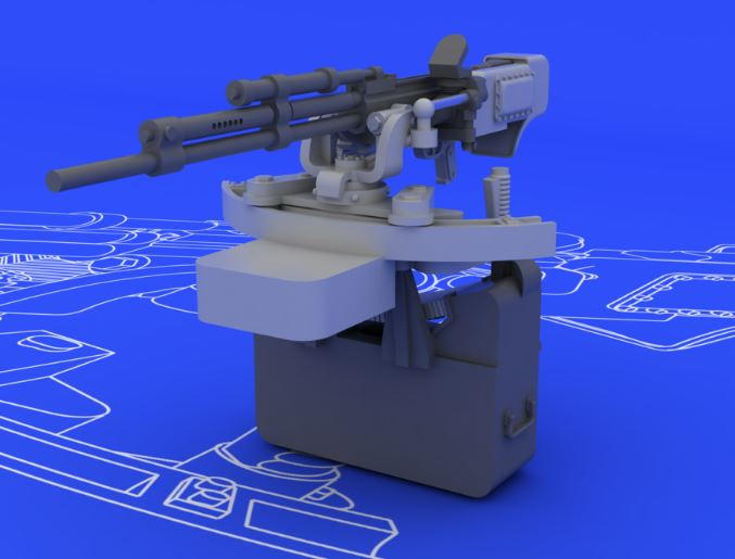 Eduard 648079 1:48 IL-2 UBT Gun for Tamiya Aircraft (Photo-Etched & Re This is an Eduard 648079 1:48 IL-2 UBT Gun for Tamiya Aircraft (Photo-Etched & Resin). This is recommended for Tamiya Kit. Brassin set focused to Tamiya 1/48 Il-2 contains the complete mounting of the Il-2 Stormovik rear gunner's 50 cal. machine gun. The set consists from the machine gun UBT, the gun carriage and ammo box. Resin parts are even detailed by photo-etched details. Products: Brassin, Type: Aircraft, Tags: Armament & Guns, and Weight: 0.033 kg.Condition: Factory NewOperational Status: FunctionalThis item is brand new from the factory.Original Box: YesManufacturer: EduardModel Number: 648079MSRP: $14.95Category 1: AccessoriesCategory 2: OtherAvailability: Ships in 3 to 5 Business Days.The Trainz SKU for this item is P12041529. Track: 12041529 - FS - 001 - TrainzAuctionGroup00UNK - TDIDUNK