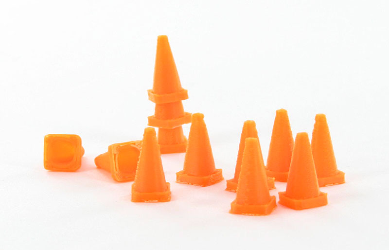 Traffic Cones - 12 pack safety orange - ABS plastic - Made in the USA using 3D printer technologyCondition: Factory NewOperational Status: FunctionalThis item is brand new from the factory.Original Box: YesManufacturer: 3D to ScaleModel Number: 50-110-ORMSRP: $5.93Category 1: AccessoriesCategory 2: OtherAvailability: Ships in 3 to 5 Business Days.The Trainz SKU for this item is P12007855. Track: 12007855 - FS - 001 - TrainzAuctionGroup00UNK - TDIDUNK