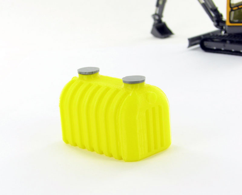 Septic Tank - yellow - ABS plastic - Made in the USA using 3D printer technologyCondition: Factory NewOperational Status: FunctionalThis item is brand new from the factory.Original Box: YesManufacturer: 3D to ScaleModel Number: 50-145-YMSRP: $6.00Category 1: AccessoriesCategory 2: OtherAvailability: Ships in 3 to 5 Business Days.The Trainz SKU for this item is P12008383. Track: 12008383 - FS - 001 - TrainzAuctionGroup00UNK - TDIDUNK