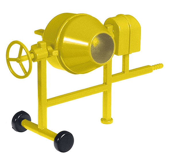 NZG 506-2160 1:50 Scale Concrete Mixer in Yellow
