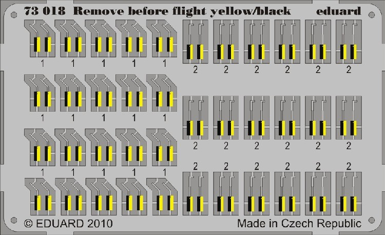 Eduard 73018 1:72 Aircraft Yellow/ Black Remove Before Flight