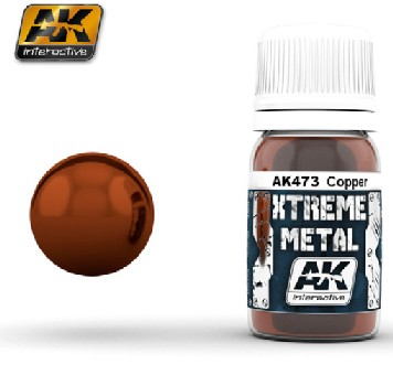 AK Interactive 473 Xtreme Metal Copper Metallic Paint 30ml Bottle