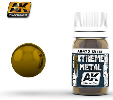 AK Interactive 475 Xtreme Metal Brass Metallic Paint 30ml Bottle