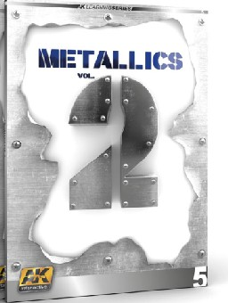 """AK Interactive 508 Metallics Vol.2 Learning Series Book This is an AK Interactive 508 Metallics Vol.2 Learning Series Book. Metallics have always been a difficult task for modellers. It doesn't matter which modelling branch you choose, at some point you will find yourself in front of a metal piece/part which, of course, you want to finish as realistic as possible. There exist many ways to achieve a metal finish, from the use of enamels, towards waxes and bare metal sheets. Inside these two volumes dedicated to metallics, the talented artists from the AK Learning Series take you on a journey through the difficult tasks of mastering metallics. In this second volume we will show how to apply metallic effects over historic and fantasy figures. How to paint metallics without metallic paints using the """"non metallic metal"""" technique, to use properly lights and shadows to imitate metallic effects, polished metals, bluing technique etc. Many tricks and techniques from the best modelers. We will see examples applied to robots, spaceships, historic figures, and many more.Condition: Factory NewOperational Status: FunctionalThis item is brand new from the factory.Original Box: YesManufacturer: AK InteractiveModel Number: 508MSRP: $19.99Category 1: Books & MediaCategory 2: MilitaryAvailability: Ships in 3 to 5 Business Days.The Trainz SKU for this item is P12176125. Track: 12176125 - FS - 001 - TrainzAuctionGroup00UNK - TDIDUNK"""