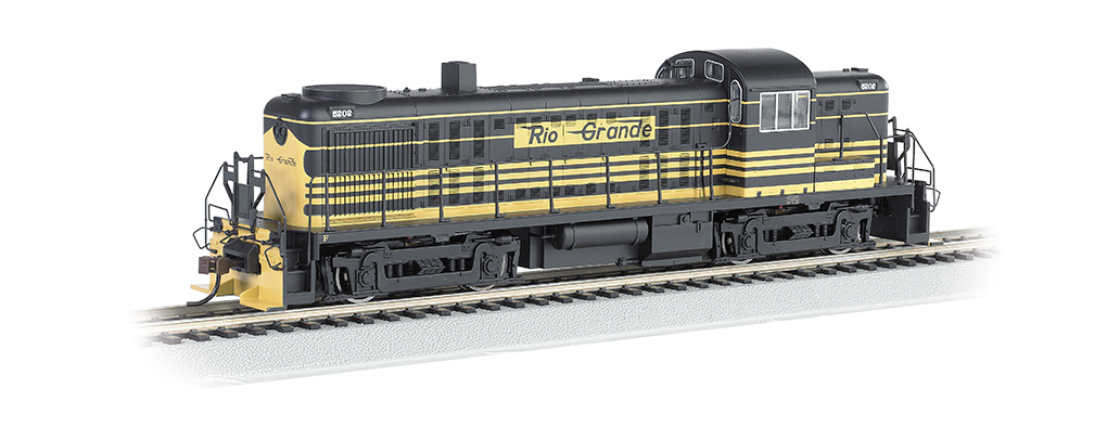 Bachmann 68602 HO Rio Grande RS-3 Diesel Locomotive with Bluetooth E-Z This is a Bachmann 68602 HO Scale Rio Grande RS-3 with E-Z App #5202. It Features of E-Z App™ Touch-Screen Train Control include: wireless control with any Bluetooth® 4-supported iPhone®, iPad®, or iOS device (includes iPhone® 4s, 5, 5c, 5s, 6, and 6 Plus; iPad Air® and iPad mini™, 3rd and 4th generations; and iPod touch® 5 or newer) , operates from up to 100 feet away with Bluetooth® Smart technology, realistic, dynamic engine sound broadcast through your Bluetooth® 4-supported smart device,requires 16 volt DC or DCC track power for operation, ready to launch and use instantly after downloading the FREE Bachmann E-Z App™ from the Apple App Store, and no configuration or additional equipment required. Locomotive features: all-wheel drive,can motor,LED headlights,RP25 wheel contours,E-Z Mate® Mark II couplers, and Performs best on 18 radius curves or greater.Condition: Factory New (C-9All original; unused; factory rubs and evidence of handling, shipping and factory test run.Standards for all toy train related accessory items apply to the visual appearance of the item and do not consider the operating functionality of the equipment.Condition and Grading Standards are subjective, at best, and are intended to act as a guide. )Operational Status: FunctionalThis item is brand new from the factory.Original Box: Yes (P-9May have store stamps and price tags. Has inner liners.)Manufacturer: BachmannModel Number: 68602Road Name: Rio GrandeMSRP: $239.00Scale/Era: HO ModernModel Type: Diesel LocoAvailability: Ships in 1 Business Day!The Trainz SKU for this item is P12157778. Track: 12157778 - No Location Assigned - 001 - TrainzAuctionGroup00UNK - TDIDUNK