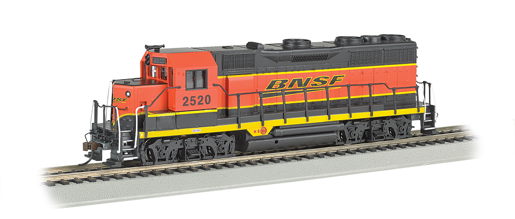 Bachmann 68801 HO Burlington Northern Santa Fe EMD GP35 Diesel Loco wi This is a Bachmann 68801 HO Scale Burlington Northern Santa Fe EMD GP35 with E-Z App™ Wireless #2520. It Features of E-Z App™ Touch-Screen Train Control include: wireless control with any Bluetooth® 4-supported iPhone®, iPad®, or iOS device (includes iPhone® 4s, 5, 5c, 5s, 6, and 6 Plus; iPad Air® and iPad mini™, 3rd and 4th generations; and iPod touch® 5 or newer) , operates from up to 100 feet away with Bluetooth® Smart technology, realistic, dynamic engine sound broadcast through your Bluetooth® 4-supported smart device,requires 16 volt DC or DCC track power for operation, ready to launch and use instantly after downloading the FREE Bachmann E-Z App™ from the Apple App Store, and no configuration or additional equipment required. Locomotive features: all-wheel drive,can motor,LED headlights,RP25 wheel contours,E-Z Mate® Mark II couplers, and Performs best on 18 radius curves or greater.Condition: Factory New (C-9All original; unused; factory rubs and evidence of handling, shipping and factory test run.Standards for all toy train related accessory items apply to the visual appearance of the item and do not consider the operating functionality of the equipment.Condition and Grading Standards are subjective, at best, and are intended to act as a guide. )Operational Status: FunctionalThis item is brand new from the factory.Original Box: Yes (P-9May have store stamps and price tags. Has inner liners.)Manufacturer: BachmannModel Number: 68801Road Name: Burlington Northern Santa FeMSRP: $239.00Scale/Era: HO ModernModel Type: Diesel LocoAvailability: Ships in 2 Business Days!The Trainz SKU for this item is P12157782. Track: 12157782 - No Location Assigned - 001 - TrainzAuctionGroup00UNK - TDIDUNK